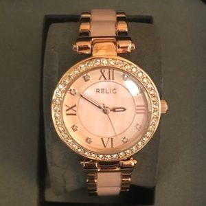 Relic Pink Quartz Watch